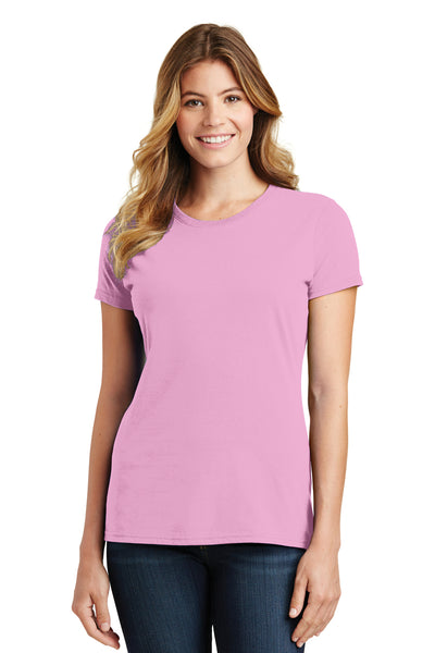 Port & Company LPC450 Womens Fan Favorite Short Sleeve Crewneck T-Shirt Candy Pink Front