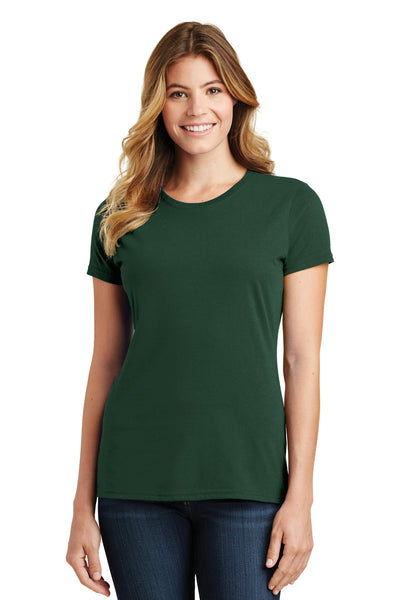 Port & Company LPC450 Womens Fan Favorite Short Sleeve Crewneck T-Shirt Forest Green Front