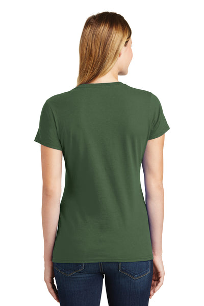 Port & Company LPC450 Womens Fan Favorite Short Sleeve Crewneck T-Shirt Olive Green Back
