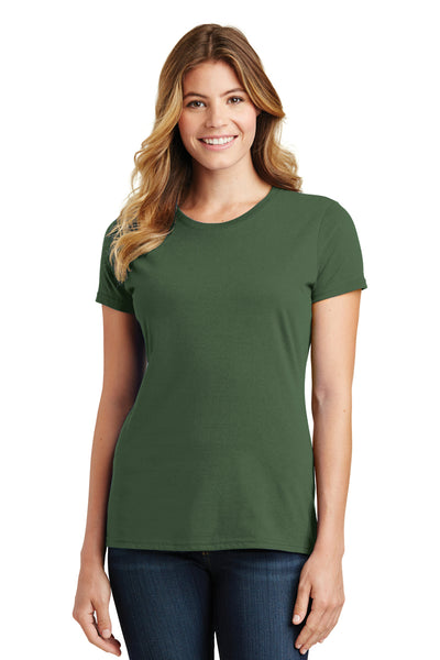 Port & Company LPC450 Womens Fan Favorite Short Sleeve Crewneck T-Shirt Olive Green Front