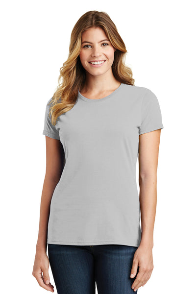 Port & Company LPC450 Womens Fan Favorite Short Sleeve Crewneck T-Shirt Silver Grey Front
