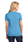 Port & Company LPC54 Womens Core Short Sleeve Crewneck T-Shirt Aqua Blue Back