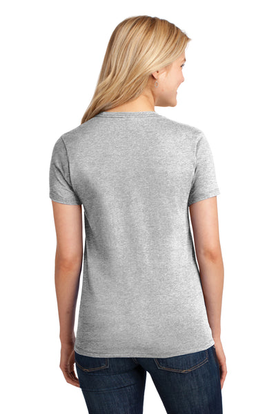Port & Company LPC54 Womens Core Short Sleeve Crewneck T-Shirt Ash Grey Back