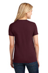 Port & Company LPC54 Womens Core Short Sleeve Crewneck T-Shirt Maroon Back
