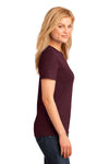 Port & Company LPC54 Womens Core Short Sleeve Crewneck T-Shirt Maroon Side