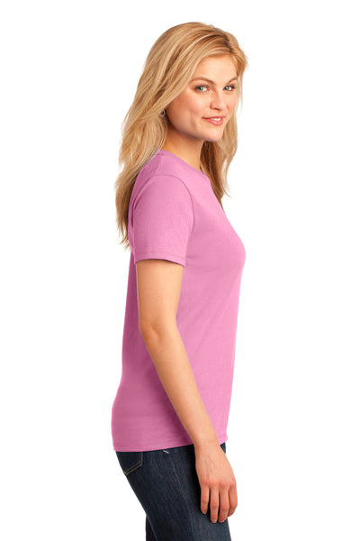 Port & Company LPC54 Womens Core Short Sleeve Crewneck T-Shirt Candy Pink Side