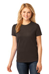 Port & Company LPC54 Womens Core Short Sleeve Crewneck T-Shirt Chocolate Brown Front