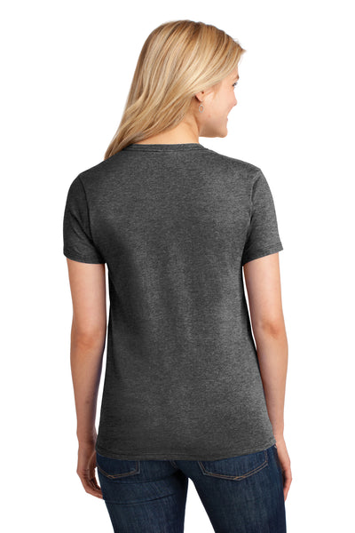 Port & Company LPC54 Womens Core Short Sleeve Crewneck T-Shirt Heather Dark Grey Back