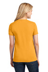 Port & Company LPC54 Womens Core Short Sleeve Crewneck T-Shirt Gold Back