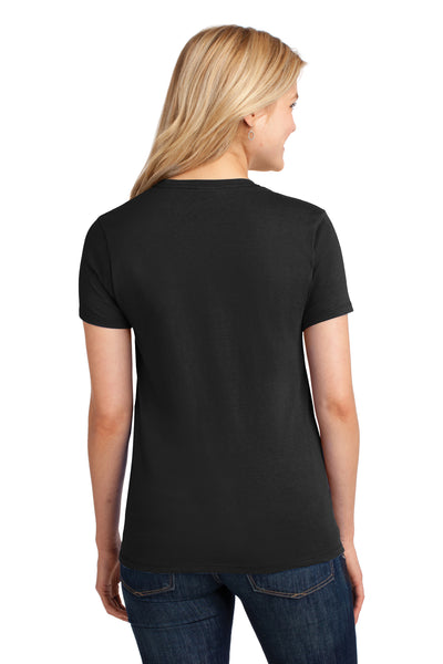 Port & Company LPC54 Womens Core Short Sleeve Crewneck T-Shirt Black Back