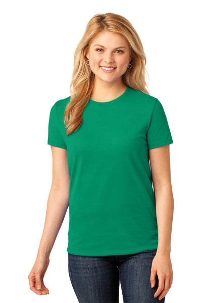 Port & Company LPC54 Womens Core Short Sleeve Crewneck T-Shirt Kelly Green Front