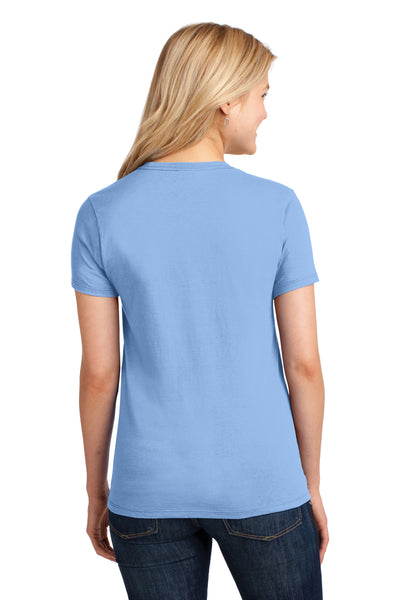 Port & Company LPC54 Womens Core Short Sleeve Crewneck T-Shirt Light Blue Back