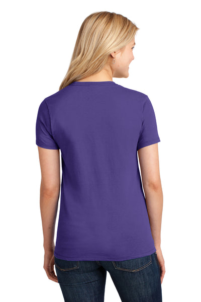 Port & Company LPC54 Womens Core Short Sleeve Crewneck T-Shirt Purple Back