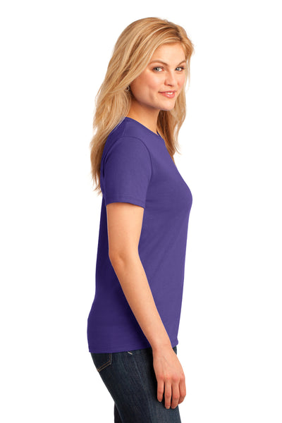 Port & Company LPC54 Womens Core Short Sleeve Crewneck T-Shirt Purple Side