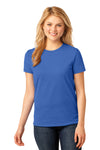Port & Company LPC54 Womens Core Short Sleeve Crewneck T-Shirt Royal Blue Front