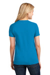 Port & Company LPC54 Womens Core Short Sleeve Crewneck T-Shirt Sapphire Blue Back