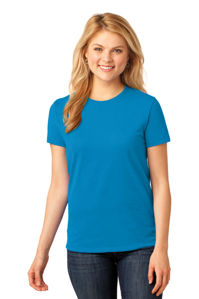 Port & Company LPC54 Womens Core Short Sleeve Crewneck T-Shirt Sapphire Blue Front