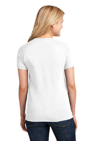 Port & Company LPC54 Womens Core Short Sleeve Crewneck T-Shirt White Back