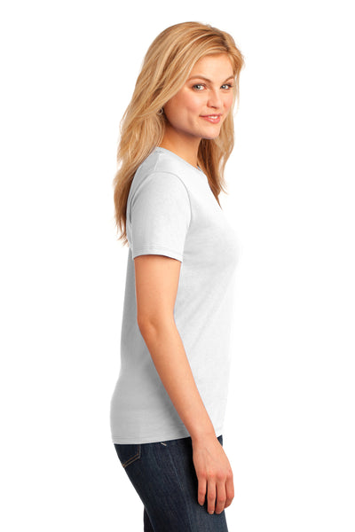 Port & Company LPC54 Womens Core Short Sleeve Crewneck T-Shirt White Side