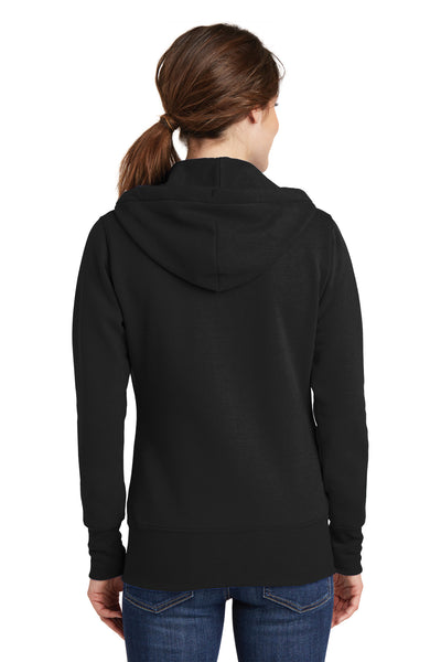Port & Company LPC78ZH Womens Core Fleece Full Zip Hooded Sweatshirt Hoodie Black Back