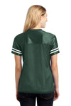 Sport-Tek LST307 Womens Short Sleeve V-Neck T-Shirt Forest Green Back