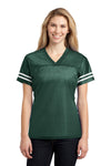 Sport-Tek LST307 Womens Short Sleeve V-Neck T-Shirt Forest Green Front