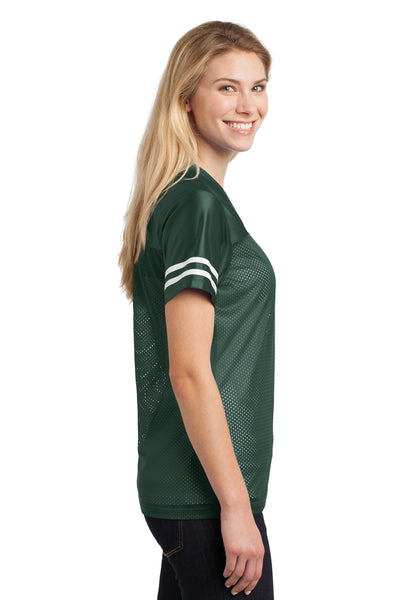Sport-Tek LST307 Womens Short Sleeve V-Neck T-Shirt Forest Green Side
