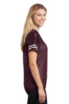 Sport-Tek LST307 Womens Short Sleeve V-Neck T-Shirt Maroon Side