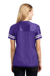 Sport-Tek LST307 Womens Short Sleeve V-Neck T-Shirt Purple Back