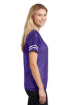 Sport-Tek LST307 Womens Short Sleeve V-Neck T-Shirt Purple Side