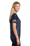 Sport-Tek LST307 Womens Short Sleeve V-Neck T-Shirt Navy Blue Side
