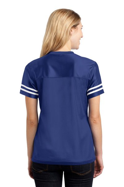 Sport-Tek LST307 Womens Short Sleeve V-Neck T-Shirt Royal Blue Back