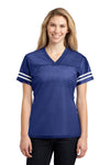 Sport-Tek LST307 Womens Short Sleeve V-Neck T-Shirt Royal Blue Front