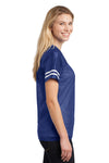Sport-Tek LST307 Womens Short Sleeve V-Neck T-Shirt Royal Blue Side