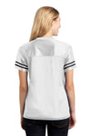 Sport-Tek LST307 Womens Short Sleeve V-Neck T-Shirt White Back