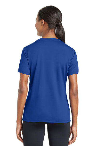 Sport-Tek LST340 Womens RacerMesh Moisture Wicking Short Sleeve V-Neck T-Shirt Royal Blue Back