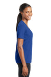 Sport-Tek LST340 Womens RacerMesh Moisture Wicking Short Sleeve V-Neck T-Shirt Royal Blue Side