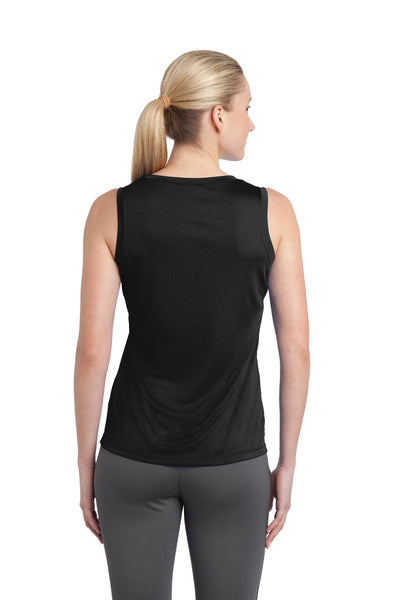 Sport-Tek LST352 Womens Competitor Moisture Wicking Tank Top Black Back