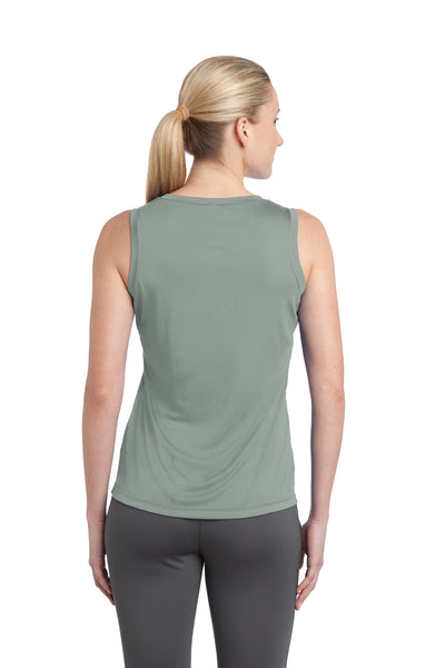 Sport-Tek LST352 Womens Competitor Moisture Wicking Tank Top Silver Grey Back