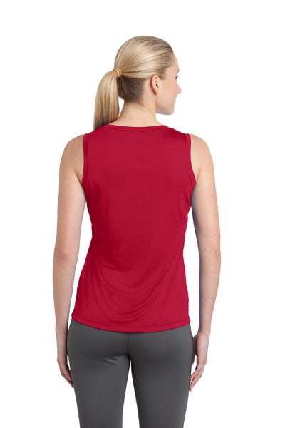 Sport-Tek LST352 Womens Competitor Moisture Wicking Tank Top Red Back