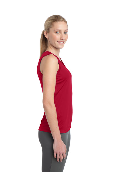Sport-Tek LST352 Womens Competitor Moisture Wicking Tank Top Red Side