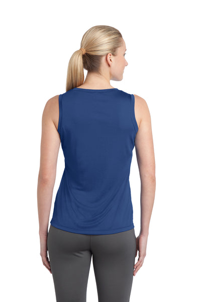 Sport-Tek LST352 Womens Competitor Moisture Wicking Tank Top Royal Blue Back