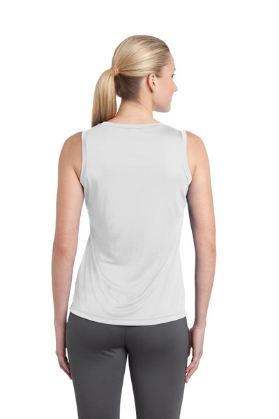 Sport-Tek LST352 Womens Competitor Moisture Wicking Tank Top White Back