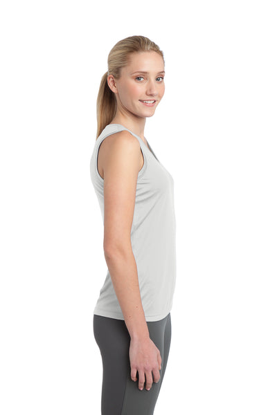 Sport-Tek LST352 Womens Competitor Moisture Wicking Tank Top White Side