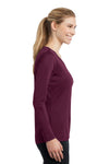 Sport-Tek LST353LS Womens Competitor Moisture Wicking Long Sleeve V-Neck T-Shirt Maroon Side