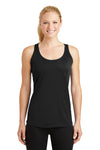 Sport-Tek LST356 Womens Competitor Moisture Wicking Tank Top Black Front
