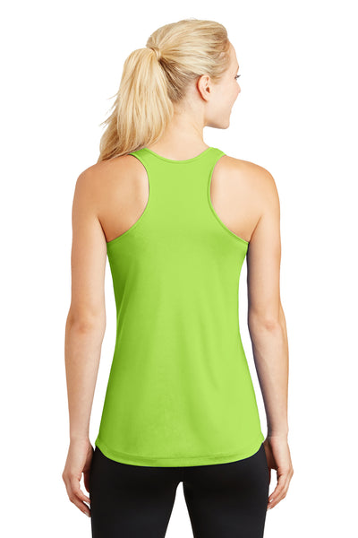 Sport-Tek LST356 Womens Competitor Moisture Wicking Tank Top Lime Green Back