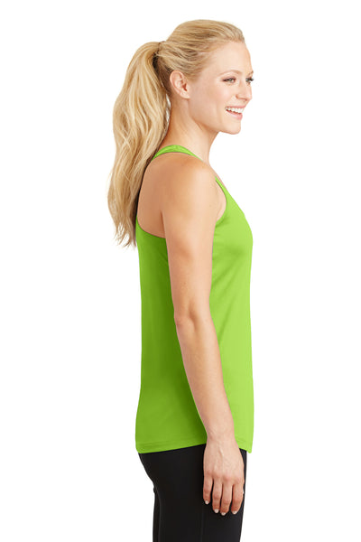Sport-Tek LST356 Womens Competitor Moisture Wicking Tank Top Lime Green Side