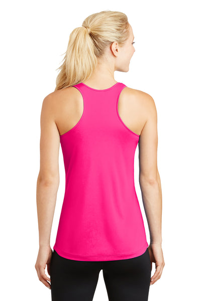 Sport-Tek LST356 Womens Competitor Moisture Wicking Tank Top Neon Pink Back