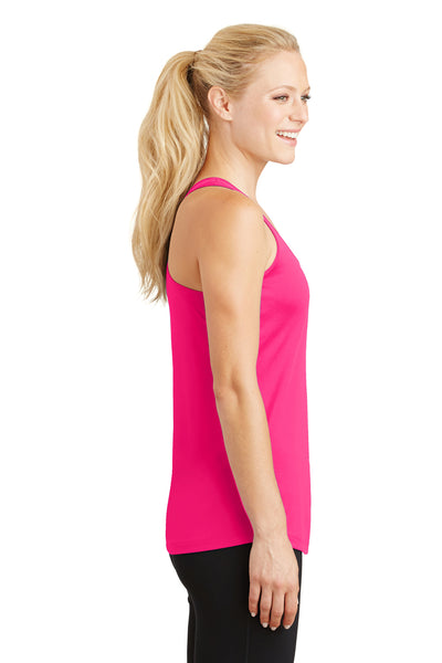 Sport-Tek LST356 Womens Competitor Moisture Wicking Tank Top Neon Pink Side
